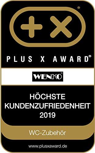 Wenko 22250100 Kosmetikeimer Brasil L absolut bruchsicher Fassungsvermögen 6,5 L, Thermoplastischer Kunststoff TPE, grau, 19,5 x 19,5 x 31 cm - 4