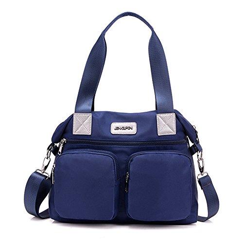 Preisvergleich Produktbild JOTHIN Multi-Tasche Große Kapazität Leinwand Umhängetasche (Blau)