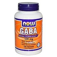 Now GABA Natural Calming Effect 500mg - 100 Capsules