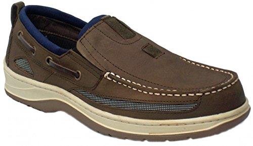 BluePort Chaussures bateau Homme Cuir nubuck dunkelbraun