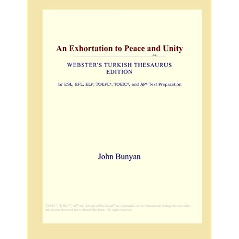 An Exhortation to Peace and Unity (Webster's Turkish Thesaurus Edition)