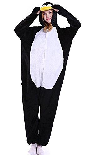 ABYED® Kostüm Jumpsuit Onesie Tier Fasching Karneval Halloween kostüm Erwachsene Unisex Cosplay Schlafanzug- Größe XXL -for Höhe 182-190CM, Penguins (Unisex Kostüme)