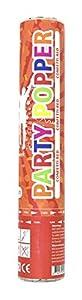 Folat Party Products Cañón de Confeti de 28 cm, Formas de láminas Rojas, cañón de Aire comprimido