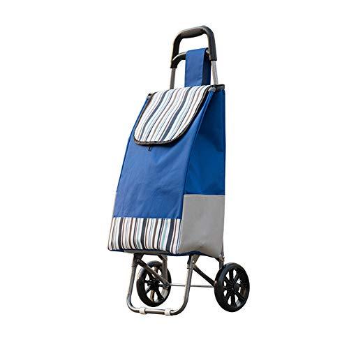 NA. Faltbarer tragbarer Lebensmittelgeschäftwarenkorb beweglicher Treppenautolaufkatze-Gepäckautoausgangsanhängerart und weiseeinkaufstascheauto,Blue