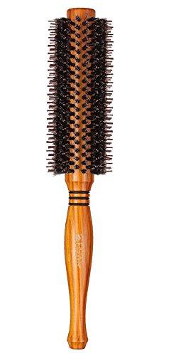 Hot Hair Brush Besten (yunai natürlichen Wildschwein Borsten Haarbürste rund Kamm Twill Haar Curling Kamm Fön Bürste)