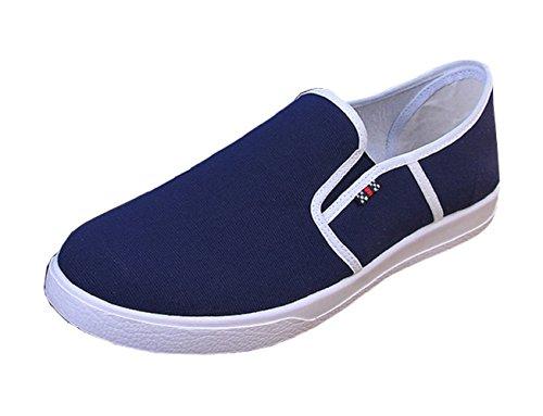 LXL-034 - Scarpe Sportive da Uomo - Tela - Senza Lacci - Colore Blu (Taglia 41 EU = 44 del Produttore)