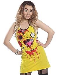 Chu Chu robe Mesdames jaune/noir Alternative Emo Goth Punk Osiris Fashion Mesdames neuf scellé avec étiquettes