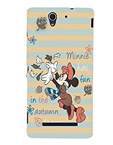 Citydreamz Minnie Mouse\Cartoon Hard Polycarbonate Designer Back Case Cover For Sony Xperia C3