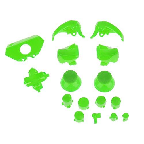 Preisvergleich Produktbild Gazechimp Ersatz Tasten Joystick-Knopf Kappen R1/L1 R2/L2 Trigger Set für Xbox One controller - Grün
