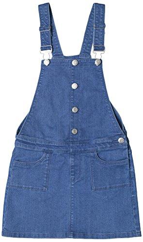ESPRIT Mädchen Latzhose RL2100501, Blau (Medium Wash Denim 463), 158