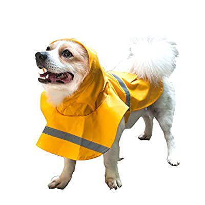 Andux Zone Hunderegenmantel Regenjacke für Hunde mit Sicherer Reflektor-Streifen, Leicht & Bequem