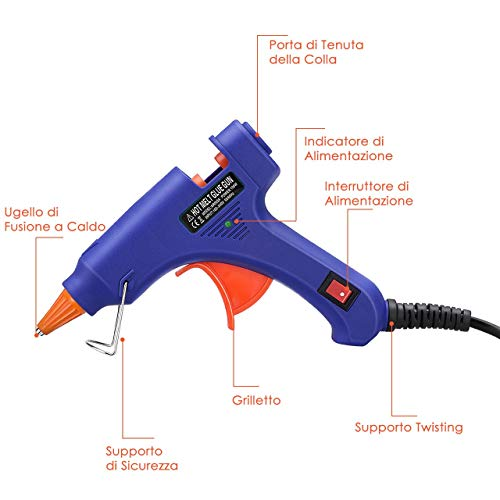 Zoom IMG-1 50 pezzi stick pistola colla