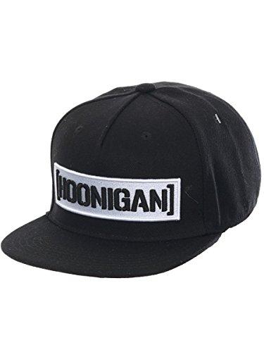 Hoonigan Snapback Kappe Censor Bar Schwarz-Weiß (One Size , Schwarz)