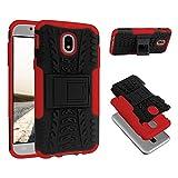 ECENCE Handyhülle Schutzhülle Outdoor Case Cover kompatibel für Samsung Galaxy J5 (2017) Handytasche Rot 24020105