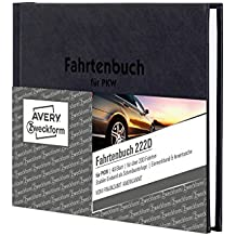 AVERY Zweckform 222D Fahrtenbuch, DIN A6, steuerlicher km-Nachweis, 48 Blatt, weiß