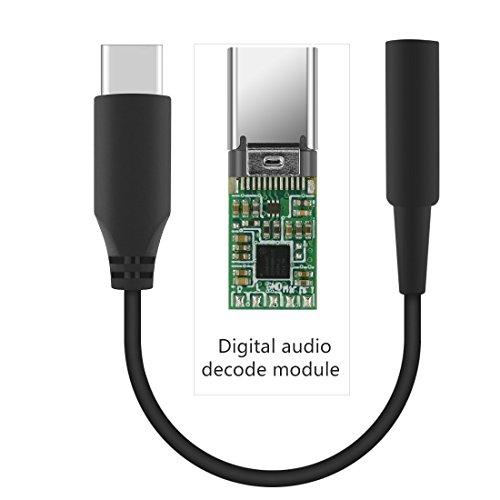 geekria QuickFit Typ C auf AUX, der U89zu Audio-Adapter, usb-c an 3,5mm Buchse Kopfhörer Jack Adapter, Kopfhörer Conversion Kordel, kompatibel mit Samsung, Moto Z, Huawei, LG, Nexus, MacPro Air
