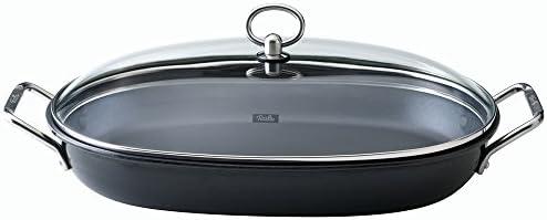 Fissler Pfanne special fisch / Fischpfanne mit Deckel / Kasserolle oval 36 x 24 cm / Pfanne antihaft / Ceran, Gas, Elektroherd - 147-500-36-000/0