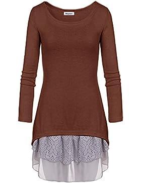 Meyison Mode Damen Strickkleider Kleidung Damenbekleidung Oberteile