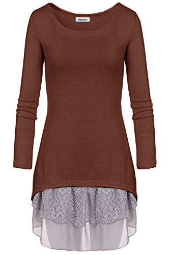 Doukia Mode Damen Strickkleider Kleidung Damenbekleidung Oberteile £¨Medium, Kaffee)