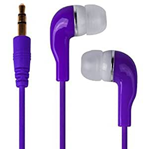 Ais Purple Ultra Base MP3 3.5mm Jack Stereo In-Ear Bud Handsfree Earphones Headphones For BLACKBERRY Q10 Android Mobile Cellular Cell Phone