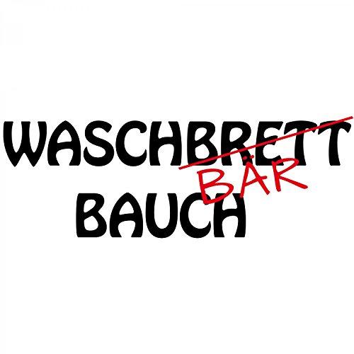 Waschbrett - Bär - Bauch - Herren T-Shirt von Fashionalarm | Fun Shirt Waschbärbauch Waschbrettbauch Sport Freizeit Training Fitness abnehmen lustig Weiß