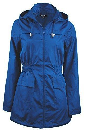 Brave Soul Ladies Womens Girls Plain MAC Cagoule Festival Raincoat with Fishtail (Sizes 8-24)