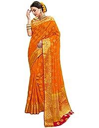 Aarti Apparels Women's Designer Kanjivaram Silk Saree_DANGAL3-5508_Orange