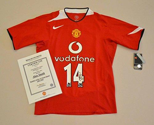 Alan-Smith-Signed-Manchester-United-0405-14-Home-Shirt-Autograph-Man-Utd-COA