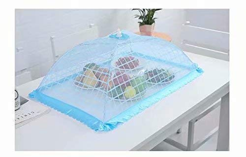 Bobopai Set of 1 Square Mesh Screen Umbrella Food Cover Net Tents Reusable and Folding 20
