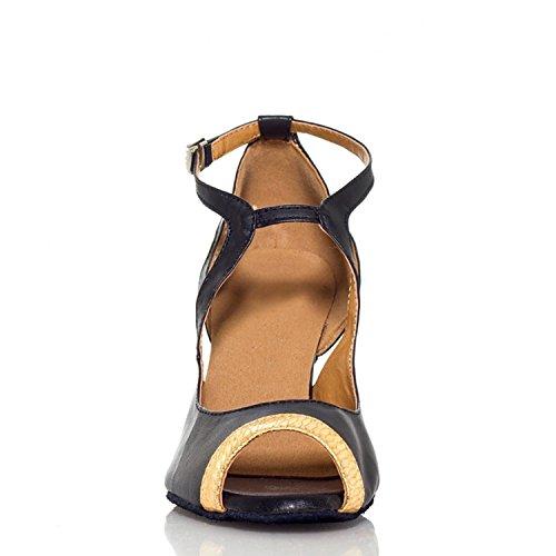 Miyoopark - Ballroom donna Black/Gold-7.5cm heel