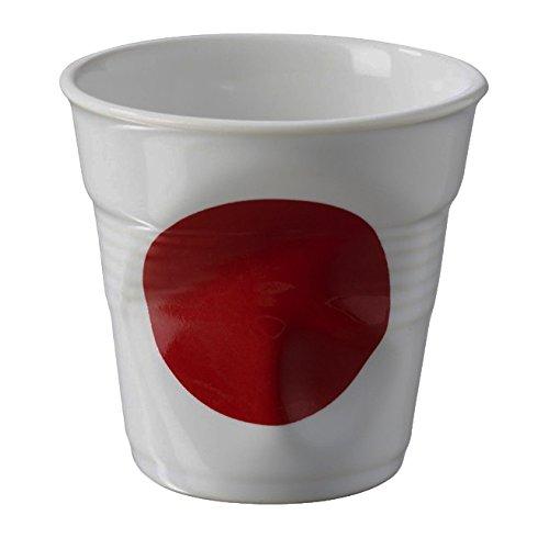 REVOL RV644317 Tasse espresso froissé Drapeau Japon 6,5cm, porcelaine, multicolore, 6.5 x 6.5 x 6 cm