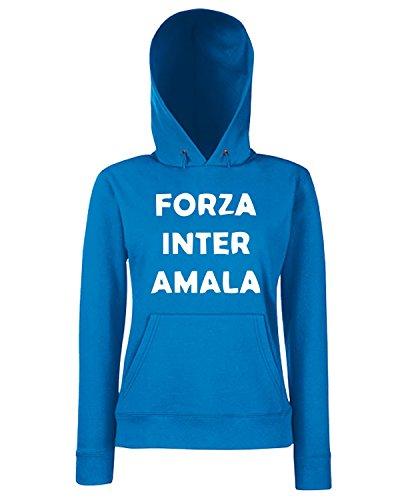 T-Shirtshock - Sweats a capuche Femme TUM0041 ultras forza inter amala Bleu Royal