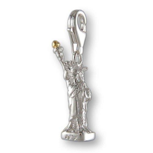 Melina Damen-Charm Anhänger Freiheitsstatue Liberty New York 925 Sterling Silber 1801161 (Freiheitsstatue Silber Charm)