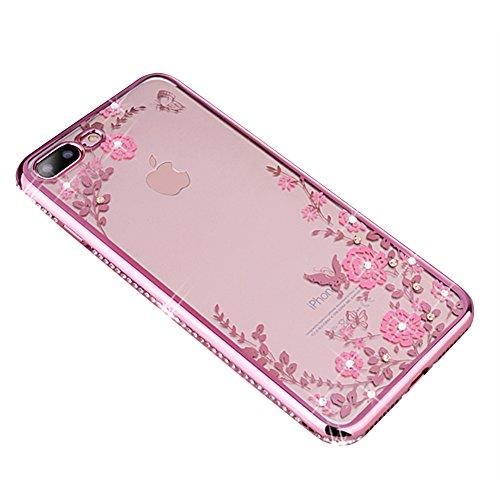 iPhone Schutzhülle Case Silikon Clear Ultra Dünn Durchsichtige Backcover Handyhülle TPU Case Rose Gold iphone 6Plus/6s Plus