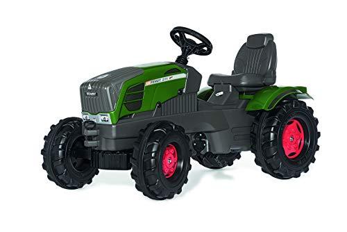 Fendt Trettraktor Rolly Toys 601028 rollyFarmtrac Fendt 211 Vario | Traktor mit Motorhaube zum Öffnen | Trettraktor mit Sitzverstellung und Flüsterreifen | ab 3 Jahren | Farbe grün