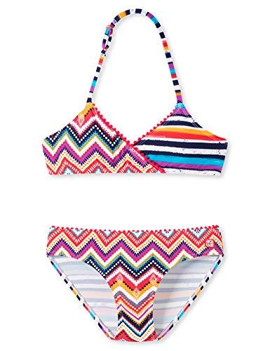 Schiesser Mädchen Aqua Triangel-Bikini Badebekleidungsset, Mehrfarbig (Multicolor 1 904), Herstellergröße: 164