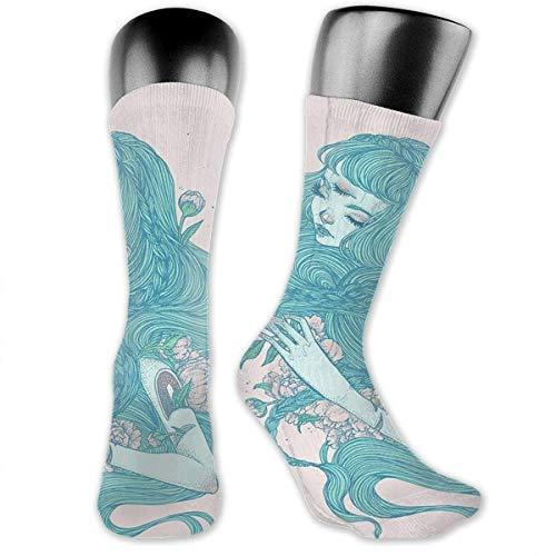 Xdevrbk Men & Women Classics Crew Socks Sweet Women Girl Thick Warm Cotton Crew Winter Socks Personalized Gift Socks
