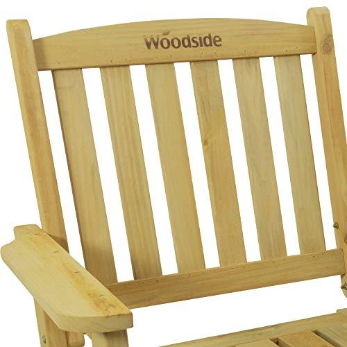 Woodside Outdoor Wooden Love Seat Bench Garden Patio Furniture