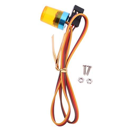 Blitzlicht Warnleuchte Warnlicht 360 Grad drehbare LED mit Schrauben und Muttern für RC Auto Modellbau - Orange ()