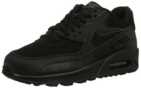Nike Nike Air Max 90 GS, Sneaker mixte enfant - Noir - Noir, 36.5