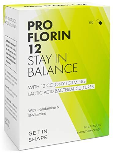 PRO FLORIN 12 - Complesso di 12 ceppi batterici vivi - fermenti lattici per l\'equilibrio della flora intestinale e l\'induzione degli enzimi digestivi - di Get In Shape