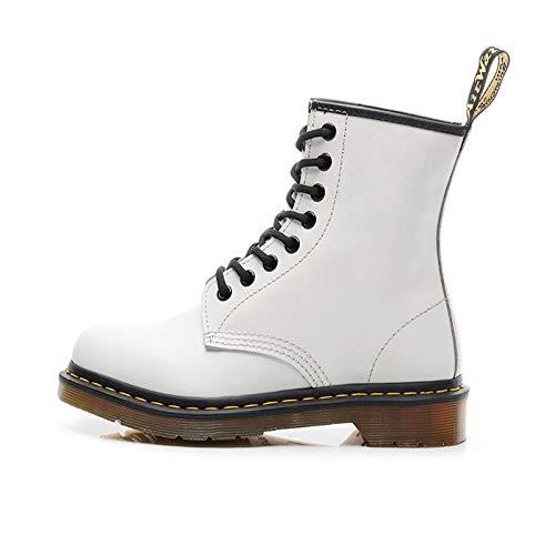 Lovers Boots Doc Martins British Martins Abito Vintage Classico Unisex Stivali Martin Originali Tacco Spesso Moto Scarpe da Donna Bianco 38