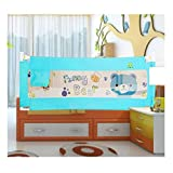 Kiddale Baby's Polyester Retractable Bedrail Safety Bed Guard, 6x2ft (Blue)