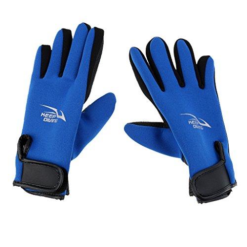 Sharplace Neopren Handschuhe 2mm Neopren Tauchhandschuhe - Blau, M