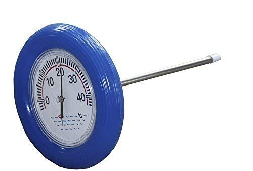 well2wellness® Poolthermometer/Schwimmbad - Thermometer mit blauem Schwimmring
