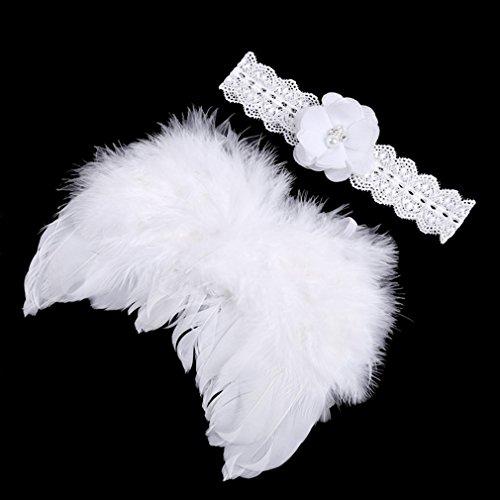 A-goo Baby Nette Haarband Stirnband Blumen Engel Flügel Kostüm Fotografie Props - Machen Engel Flügel Für Kostüm