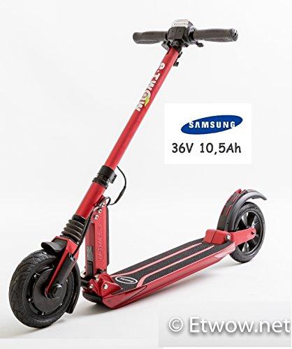 E-Twow Booster Samsung 10,5Ah Patinete,Rojo, Talla Única