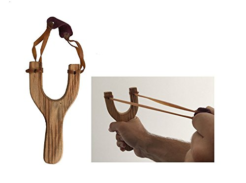 MEIERLE & Söhne 2 Holz Steinschleudern Zwille Retro Schleuder aus Holz Schön Klassische Fltische Schleuder Auch Super für Kinder
