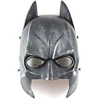 Máscara para airsoft marca Worldshopping4U de Batman de media cara, color negro y plateado