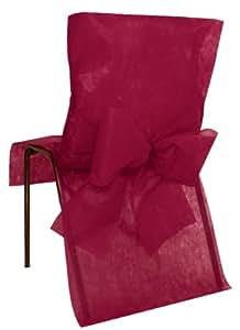 Santex 2931 Housse de Chaise avec Noeud Bordeaux